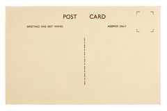 Modello in bianco d'annata della cartolina Immagini Stock Libere da Diritti