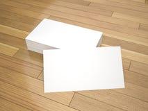 Modello in bianco dei biglietti da visita Fotografia Stock Libera da Diritti