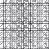 Modello bianco dei dadi su fondo nero Fotografia Stock