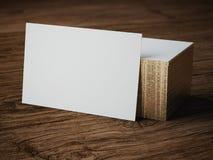Modello bianco del biglietto da visita Fotografie Stock Libere da Diritti