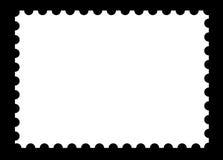 Modello in bianco del bollo sul nero Fotografia Stock Libera da Diritti