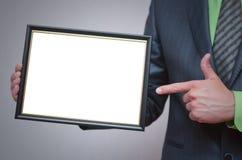 Modello in bianco del certificato o del diploma Immagine Stock