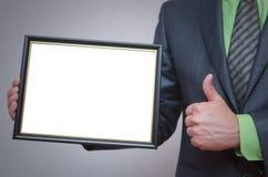 Modello in bianco del certificato o del diploma Fotografia Stock