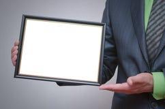 Modello in bianco del certificato o del diploma Immagini Stock
