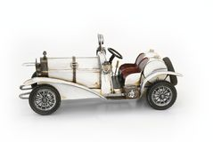 Modello bianco dell'automobile del oldtimer immagine stock
