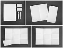 Modello in bianco della cancelleria per l'identità marcante a caldo per i progettisti Fotografia Stock Libera da Diritti