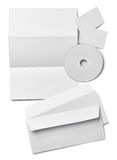 Modello bianco della carta in bianco del biglietto da visita della lettera dell'opuscolo Fotografia Stock