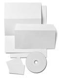 Modello bianco della carta in bianco del biglietto da visita della lettera dell'opuscolo Immagini Stock