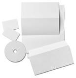 Modello bianco della carta in bianco del biglietto da visita della lettera dell'opuscolo Fotografie Stock