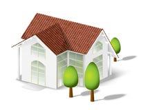 Modello bianco della casa Fotografie Stock Libere da Diritti