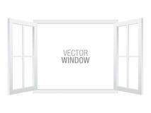 Modello bianco della finestra di vettore illustrazione vettoriale