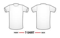 Modello in bianco della maglietta Immagini Stock