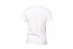 Modello bianco della maglietta Immagine Stock
