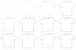 Modello in bianco della maglietta Fotografia Stock