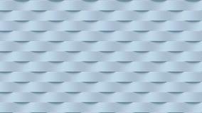 Modello bianco della superficie dell'estratto della banda di onda rappresentazione 3d Fotografie Stock