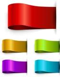 Modello in bianco delle etichette di colore Fotografie Stock Libere da Diritti