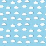 Modello bianco delle nuvole Immagine Stock