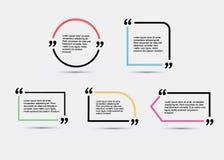 Modello in bianco di citazione Immagini Stock Libere da Diritti