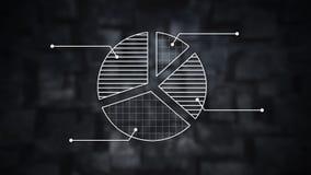 Modello bianco di infographics Fotografie Stock