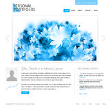 Modello bianco di Web site Fotografie Stock