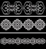 Modello in bianco e nero astratto impilato dalle parti protette Immagini Stock