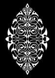 Modello bianco e nero del damasco Immagini Stock Libere da Diritti
