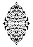 Modello bianco e nero del damasco Fotografie Stock Libere da Diritti
