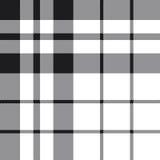Modello in bianco e nero del fc del tartan del plaid Hibernian del controllo senza cuciture Fotografia Stock