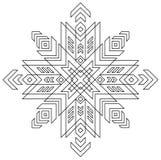 Modello in bianco e nero del simbolo di Auseklis del lettone Fotografie Stock
