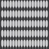 Modello in bianco e nero della foglia illustrazione vettoriale