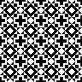 Modello in bianco e nero delle forme geometriche Fotografia Stock Libera da Diritti