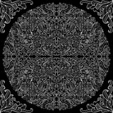 Modello in bianco e nero di pizzo Fotografia Stock