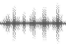 Modello in bianco e nero di semitono dell'onda sonora Fotografia Stock