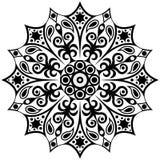 Modello in bianco e nero etnico astratto Mandala Pattern Fotografia Stock Libera da Diritti
