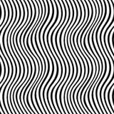 Modello in bianco e nero geometrico del tessuto della stampa di progettazione grafica Fotografie Stock Libere da Diritti