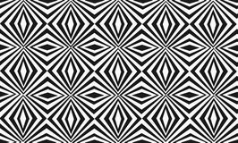 Modello in bianco e nero ipnotico senza cuciture con l'incrocio, linee a strisce diagonali Fotografia Stock
