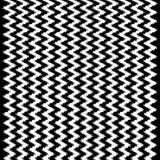 Modello in bianco e nero ondulato di Chevron Ikat Fotografia Stock
