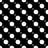 Modello in bianco e nero senza cuciture con i cerchi astratti Fotografia Stock Libera da Diritti