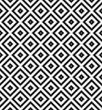 Modello in bianco e nero senza cuciture di ripetizione del pixel del controllo di griglia del diamante royalty illustrazione gratis