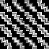 Modello in bianco e nero senza cuciture geometrico Fotografia Stock