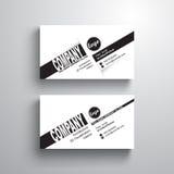 Modello bianco nero della carta di nome di tipografia di progettazione, biglietto da visita, stile minimalista, vettore Immagine Stock