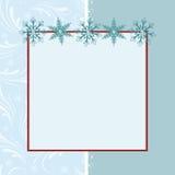 Modello in bianco per la cartolina d'auguri Fotografie Stock Libere da Diritti