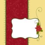 Modello in bianco per la cartolina d'auguri di natale Immagine Stock Libera da Diritti