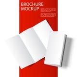 Modello in bianco two-01 dell'opuscolo Immagine Stock