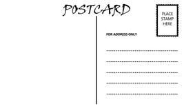Modello in bianco vuoto della cartolina Immagine Stock Libera da Diritti