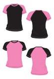 Modello bicolore della maglietta di Babylook. Immagine Stock
