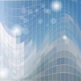 Modello blu astratto del quadrato del fondo Vettore EPS10 illustrazione di stock
