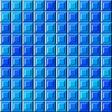 Modello blu astratto delle mattonelle di sollievo, fondo controllato semplice di struttura 3D, illustrazione senza cuciture piast royalty illustrazione gratis