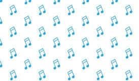 Modello blu astratto moderno semplice delle note musicali Fotografie Stock