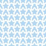 Modello blu bianco senza cuciture con le stelle Immagine Stock Libera da Diritti